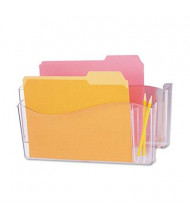Universal 2-Pocket Letter & Legal Unbreakable 4-in-1 Wall File Pocket, Clear