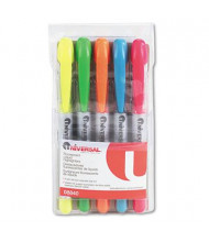 Universal One Liquid Chisel Tip Highlighter Pen, Assorted, 5-Pack