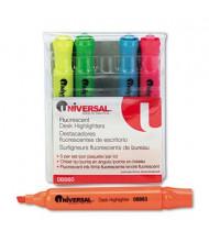 Universal Chisel Tip Desk Highlighter, Assorted, 5-Pack
