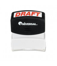 "Universal ""Draft"" Pre-Inked Message Stamp, Red Ink"