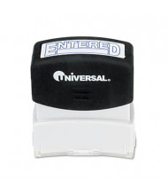 "Universal ""Entered"" Pre-Inked Message Stamp, Blue Ink"