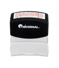 """Universal """"Faxed"""" Pre-Inked Message Stamp, Red Ink"""