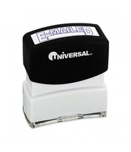 "Universal ""E-Mailed"" Pre-Inked Message Stamp, Blue Ink"