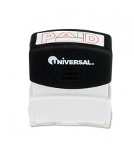 "Universal ""Paid"" Pre-Inked Message Stamp, Red Ink"