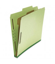 Universal 4-Section Letter 25-Point Pressboard Classification Folders, Green, 10/Box