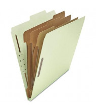 Universal 8-Section Letter 25-Point Pressboard Classification Folders, Gray-Green, 10/Box