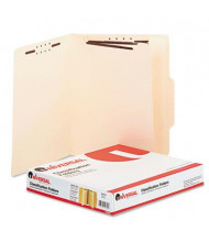 Universal 6-Section Letter 15-Point Manila Classification Folders, 15/Box
