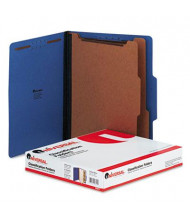 Universal 6-Section Letter 25-Point Pressboard Classification Folders, Cobalt Blue, 10/Box