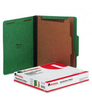 Universal 6-Section Letter 25-Point Pressboard Classification Folders, Emerald Green, 10/Box