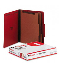 Universal 6-Section Letter 25-Point Pressboard Classification Folders, Ruby Red, 10/Box