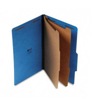Universal 6-Section Legal 25-Point Pressboard Classification Folders, Cobalt Blue, 10/Box
