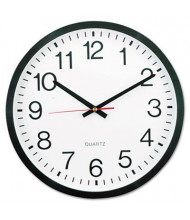 "Universal 12.5"" Round Wall Clock, Black"