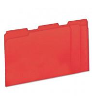 Universal One 1/3 Cut Tab Letter File Folder, Red, 100/Box