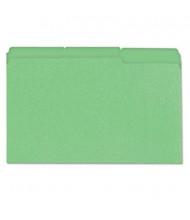 Universal One 1/3 Cut Tab Legal File Folder, Bright Green, 100/Box