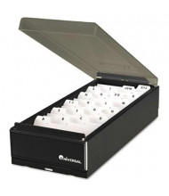 "Universal 8-1/4"" Business Card File Tray, Metal/Plastic"