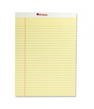 "Universal 8-1/2"" X 11-3/4"" 50-Sheet 12-Pack Legal Rule Notepads, Canary Paper"