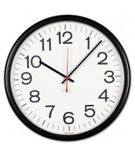 "Universal 13.5"" Indoor/Outdoor Wall Clock, Black"