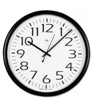 "Universal 12"" Round Wall Clock, Black"