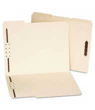 Universal One 1/3 Cut Tab 2-Fastener Letter File Folder, Manila, 50/Box
