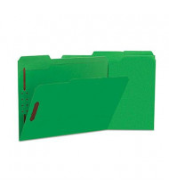 Universal One 1/3 Cut Tab 2-Fastener Letter File Folder, Green, 50/Box