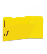 Universal One 1/3 Cut Tab 2-Fastener Letter File Folder, Yellow, 50/Box