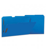Universal One 1/3 Cut Tab 2-Fastener Legal File Folder, Blue, 50/Box