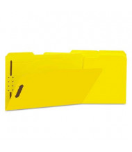 Universal One 1/3 Cut Tab 2-Fastener Legal File Folder, Yellow, 50/Box