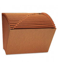 Universal 21-Pocket Letter Open Top Expanding File, Redrope