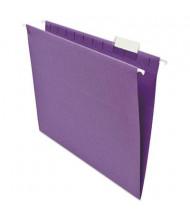 Universal One 1/5 Tab Letter Hanging File Folder, Violet, 25/Box