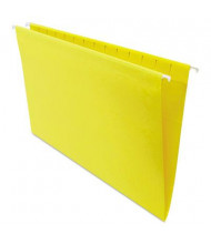 Universal One 1/5 Tab Legal Hanging File Folder, Yellow, 25/Box