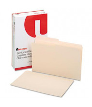 Universal 1/2 Cut Double-Ply Top Tab Legal File Folder, Manila, 100/Box