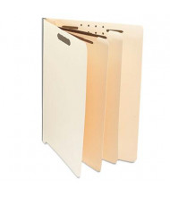 Universal 6-Section Letter 18-Point Manila Classification Folders, 10/Box