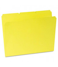 Universal One 1/3 Cut Double-Ply Top Tab Letter File Folder, Yellow, 100/Box