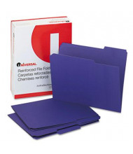 Universal One 1/3 Cut Double-Ply Top Tab Letter File Folder, Violet, 100/Box