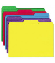 Universal One 1/3 Cut Double-Ply Top Tab Letter File Folder, Assorted, 100/Box