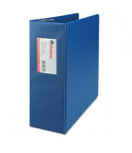 """Universal One 4"""" Capacity 8-1/2"""" x 11"""" Straight Ring Non-View Binder, Royal Blue"""