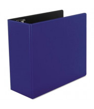 "Universal One 5"" Capacity 8-1/2"" x 11"" Straight Ring Non-View Binder, Royal Blue"