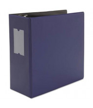 """Universal One 5"""" Capacity 8-1/2"""" x 11"""" Straight Ring Non-View Binder, Navy Blue"""