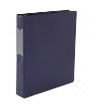 "Universal One 1-1/2"" Capacity 8-1/2"" x 11"" Straight Ring Non-View Binder, Navy Blue"