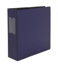 "Universal One 3"" Capacity 8-1/2"" x 11"" Straight Ring Non-View Binder, Navy Blue"
