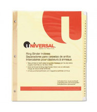 Universal One Letter 31-Tab Plastic-Coated Tab Index Dividers, Buff, 1 Set