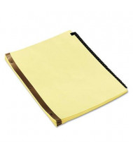 Universal One Letter 31-Tab Preprinted Simulated Leather Tab Index Dividers, Black/Gold, 1 Set