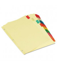 Universal Letter 8-Tab Insertable Multicolor Tab Index Dividers, Buff, 6 Sets