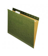 Universal One Recycled 1/5 Cut Letter Hanging File Folder, Green, 25/Box