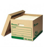 "Universal One 12"" x 15"" x 10"" Letter & Legal Recycled Record Storage Boxes, 12/Carton"