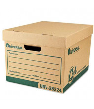 "Universal One 12"" x 15"" x 10"" Letter Recycled Record Storage Boxes, 12/Carton"