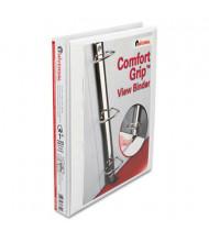 "Universal One 1"" Capacity 8-1/2"" x 11"" Straight Ring Comfort Grip Deluxe View Binder, White"