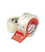 """Universal One Mailing & Storage Tape with Dispenser, Clear, 2-Pack, 3"""" Core"""