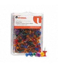"Universal 1/4"" Head Gemstone Colored Push Pins, 100/Pack"