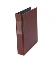 "Universal 1-1/2"" Capacity 8-1/2"" x 11"" Round Ring with Label Holder Non-View Binder, Burgundy"